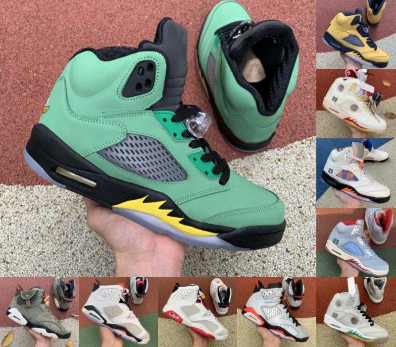 2021 Designer 5 5s Sapatos de Basquete Stealth Sail Jumpman 6 6s Carmine Travis Cactus Jack Fumo Cinza Mens Mulheres Anthracite Trainers Sneakers