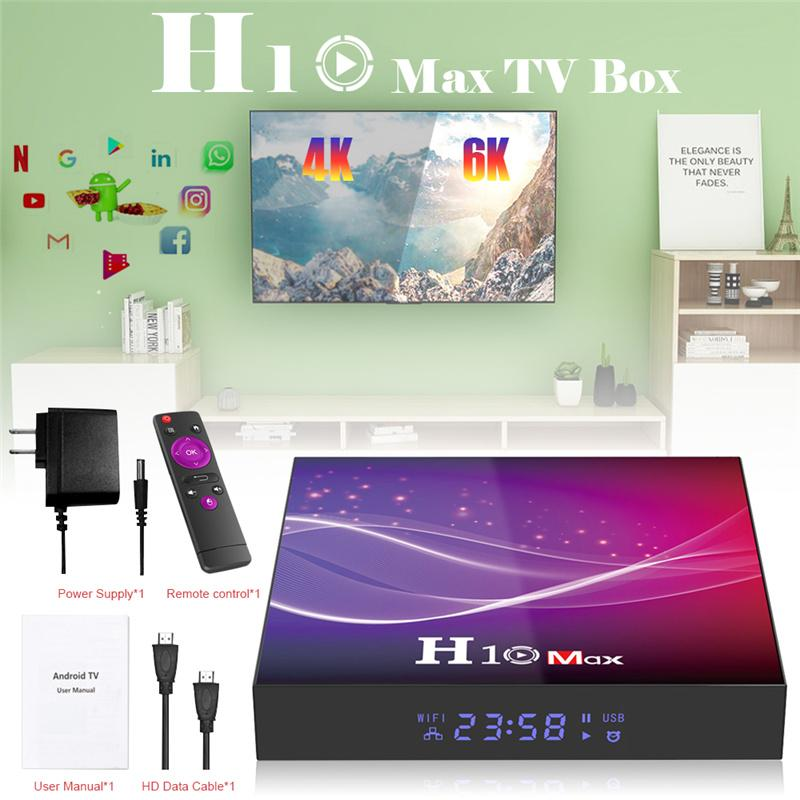 H10 Maxxx TV Box Smart Media Player 4GB+64GB Android 10.0 OS 2.4G WIFI 6K HDR 4K Set Top Boxes H616