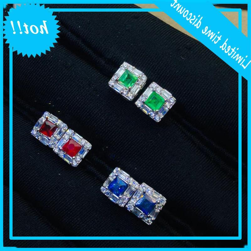 Mode Ohrringe für Party Natürliche SI Grad 925 Silber Smaragd Jederlry Mädchengift