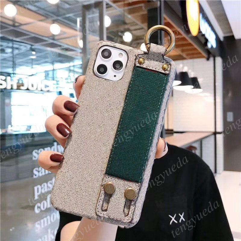 أعلى الأزياء الحالات الهاتف لآيفون 11 12 برو ماكس 7 8 زائد x xs xr xsmax جودة عالية الجلود اليد معصمه مصمم الهاتف المحمول حالة الغطاء