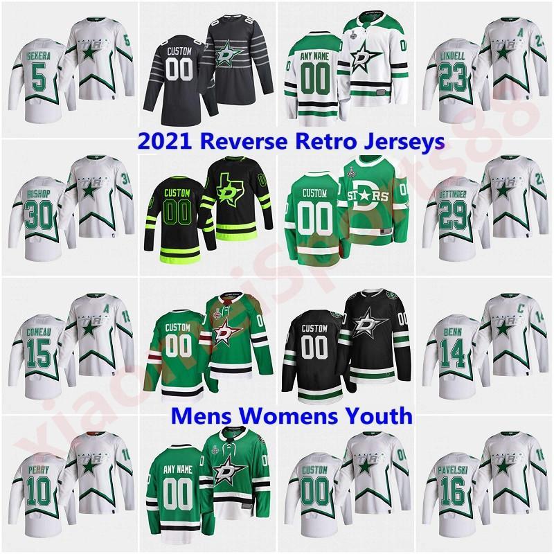 Dallas Stars 2021 Hockey Jerseys Blackout Tercer uniforme Tyler Seguin Jamie Benn Kiviranta Miro Heiskanen John Klingberg Alexander Pysyk