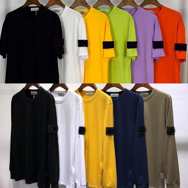 Mens 2020 INS marea marchio Stone Island T Shirt Uomo tinta unita Tee uomini e donne coppia maniche corte casual casual Tee allentato