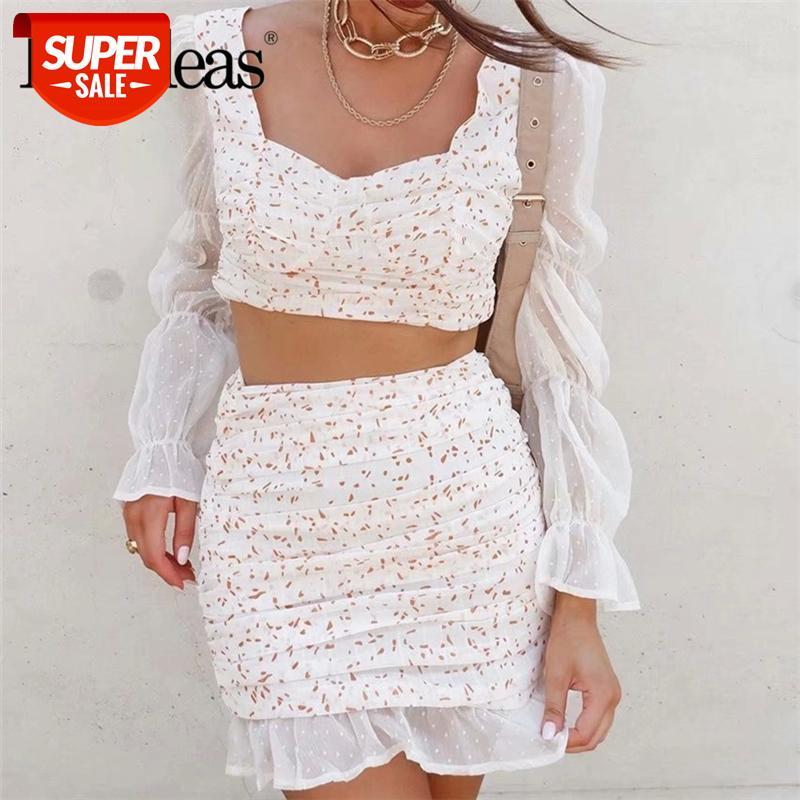 Chiffon moda blusa feminina vintage ponto cópia retalhos cortados blusa lateral zipper mulheres tops e blusas # j55o