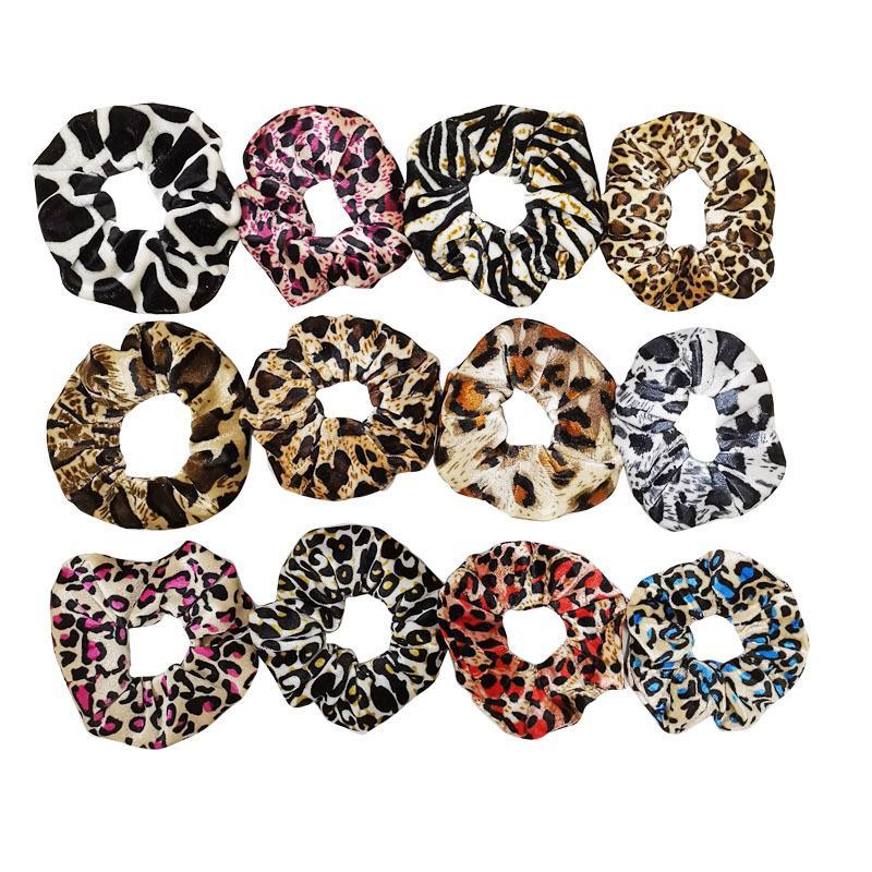 GRATIS DHL INS VELVET Solid Rainbow Hundstooth Leopard Leopardo Donne Caschi Castelli Accessorios Scrackie Ponytail Holder Holder Cornchy Hair Band