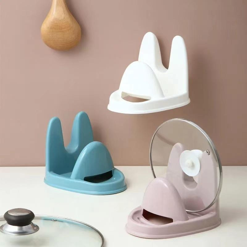 Küchenutensilien Vertikale Topfdeckel Rack Kunststoff japanische multifunktionale Regale Abflussständer Löffel Spatel Lagerung