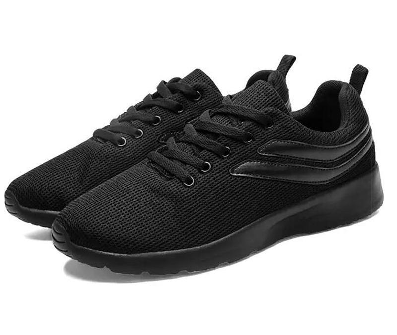 جودة عالية الرجال الاحذية أزياء الصيف الأبيض الأسود الكاكي شبكة تنفس الرياضة حذاء عشرة واحدة