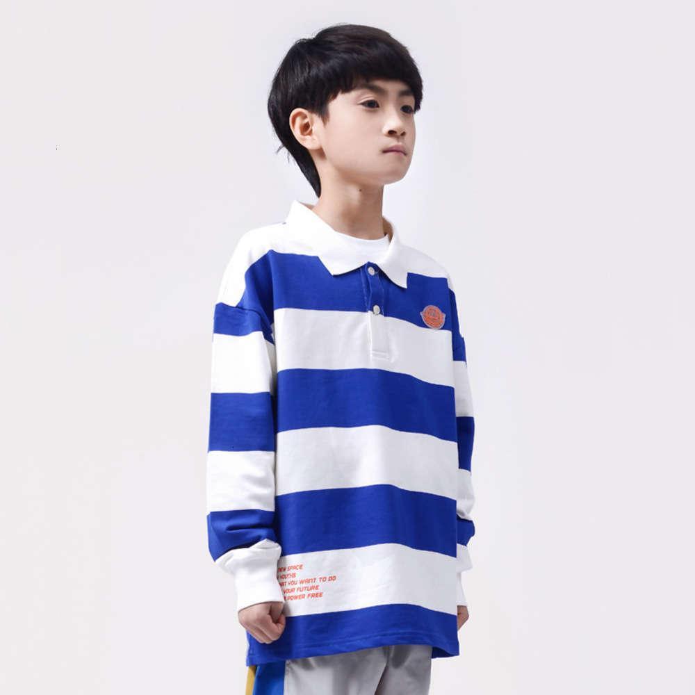 Vêtements pour enfants Hop DK HIP Fashion Fashy Boys 'Polo Chemise Middle Scole de Stripe des enfants