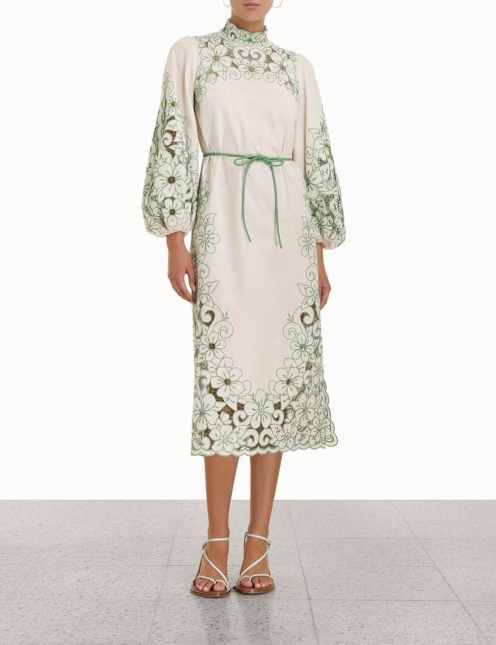 2021 vacaciones de primavera y verano nuevo retro cheongsam estilo hueco medio alto vestido de cuello