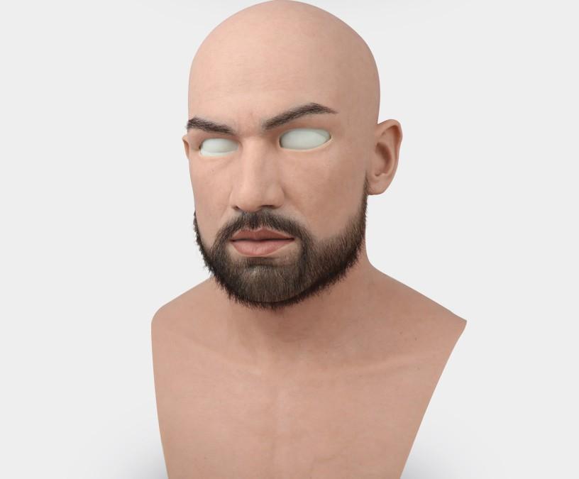 Latex mâles Masques réalistes en silicone adulte adulte pour homme Cosplay Party Masque Fétiche Véritable peau vraie