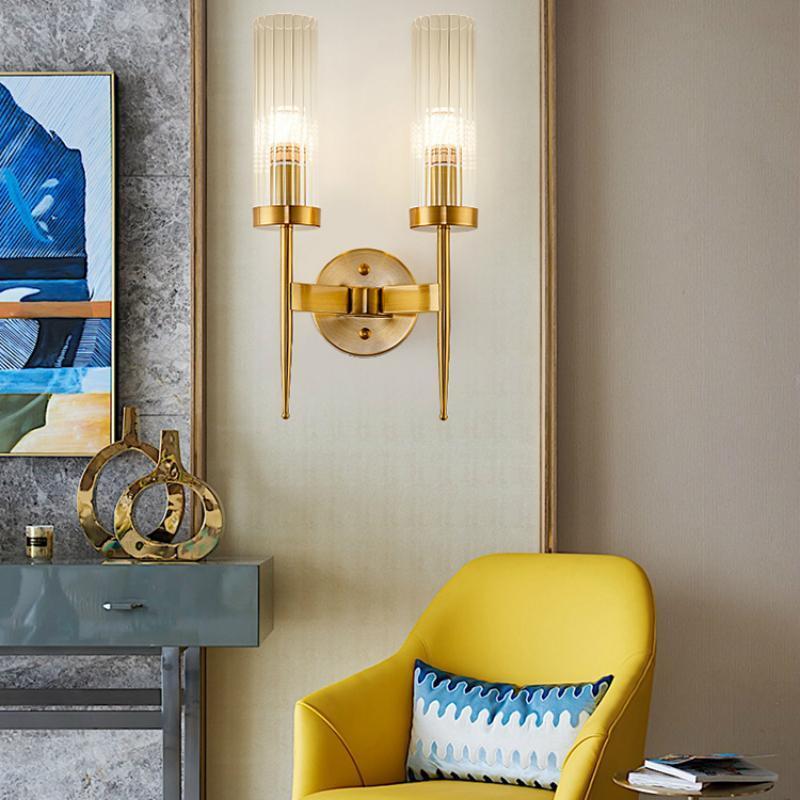 Современное Светодиодное стекло Настенная лампа Nordic Гостиная Спальня Ванная Комната Свечного прикровата