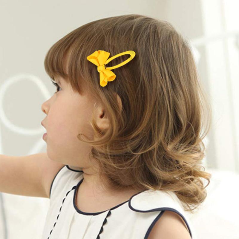 Saç Aksesuarları 20 Renkler Avrupa ve Amerikan Bebek Kırık Klip Yay 1.5 inç Kız Sevimli Tüm Maç Bb Set