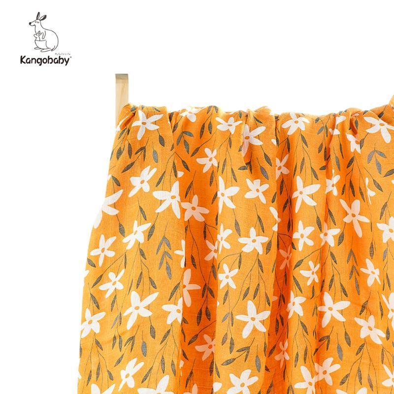 Kangobaby 70% Bamboo 30% Cotton Muslin Baby Blanket Born Swaddle Infant Wrap Blankets & Swaddling