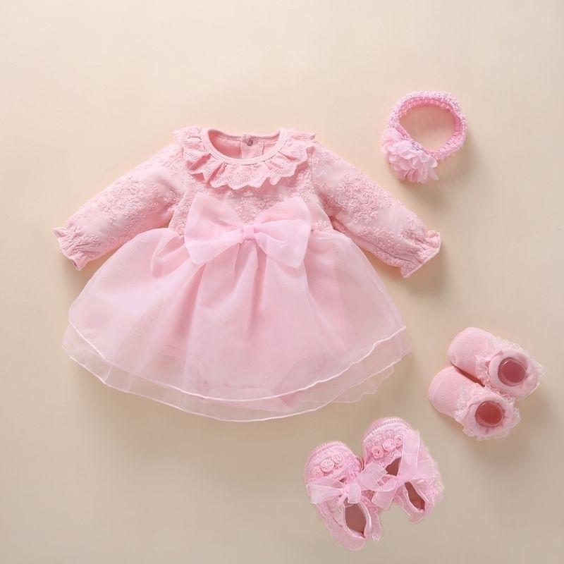 New Born baby girl clothes&dresses cotton princess style baby baptism dress infant christening dress vestidos 0 3 6 months 210315