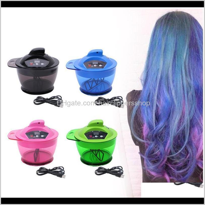 Professional Electric Coloring Bowl Matic Mixer For Hairs Color Mixing Prof Wmtejw Ribs2 Brushes Jb59X