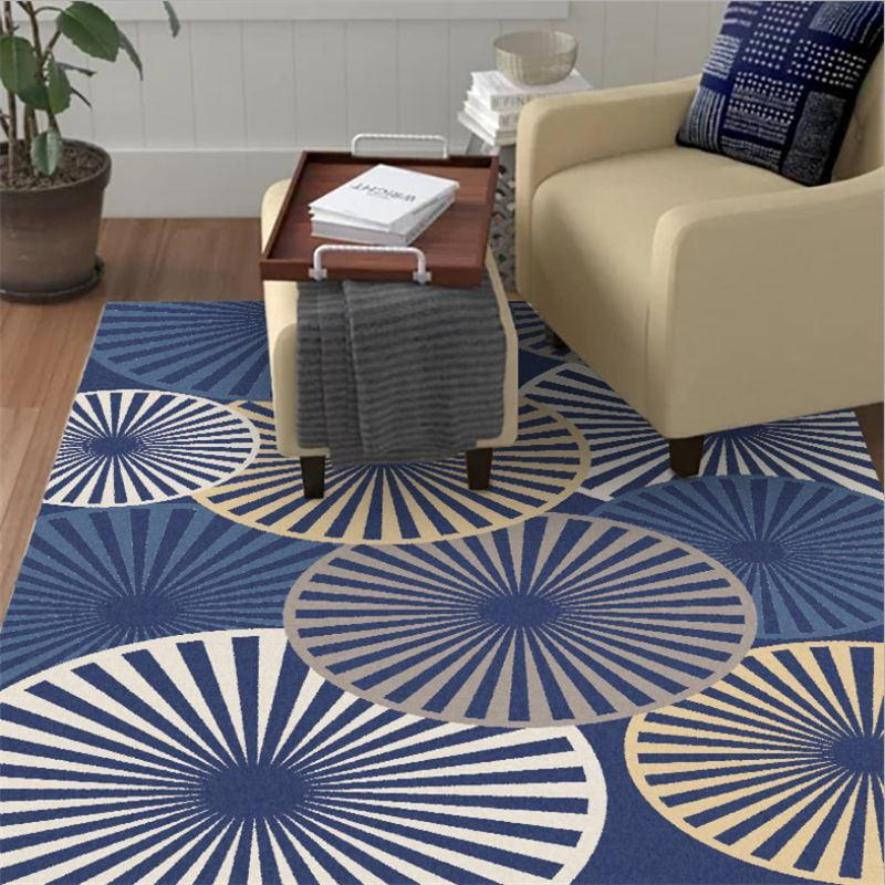 Carpets Area Rug For Living Room European Blue Bottom Disc Pattern Thickening Carpet Kids Grey Modern Home Decor
