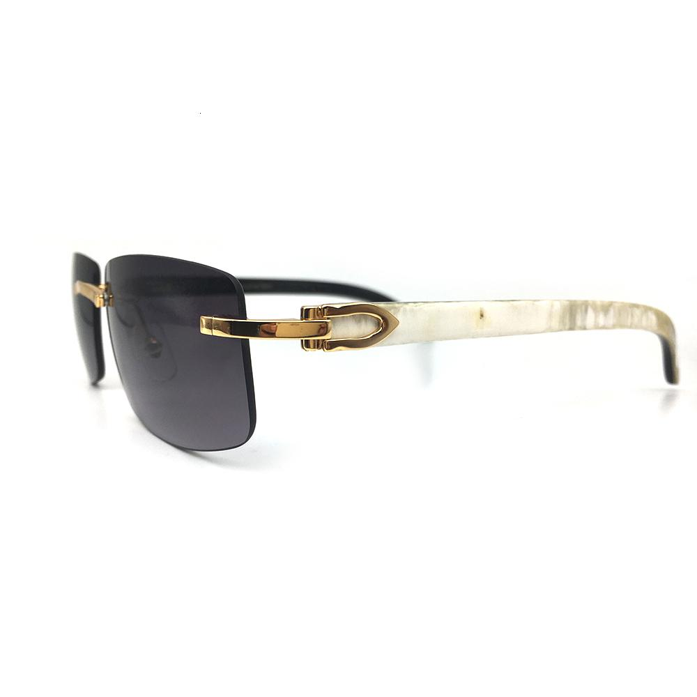 Signature Brand Designer Buffalo Sunglasses Cariter Wood Horn Eyewear Black Men Wooden Buffs Glasses Sunglass White Frames Tdgvv