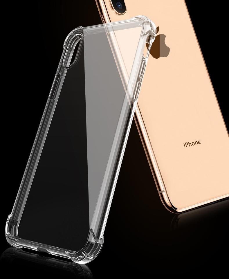 TPU 케이스 커버 1.0mm 에어백 아이폰 13 12 11 Pro Max XR XS 6 7 8 Plus 100pcs / lot