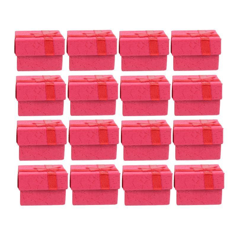 24 adet Mücevherat Organizatörler Depolama Hediye Kutuları Küpe Bilezik Kolye Yüzükler Için Küçük Kutu Wrap
