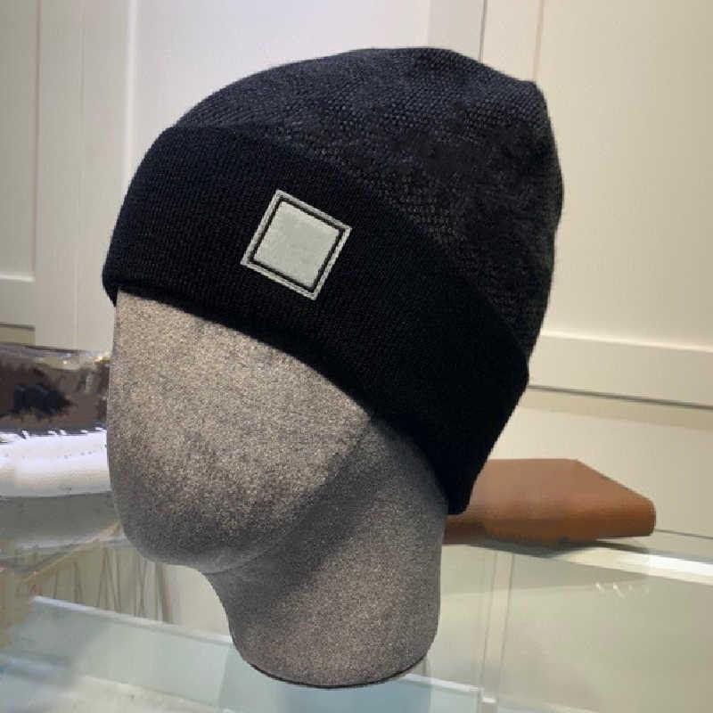 2021 Moda Erkek Beanie Örgü Şapkalar Bayan Spor Mektubu Desen Kafatası Kapaklar Kış Yün Cap Casual İki Stilleri