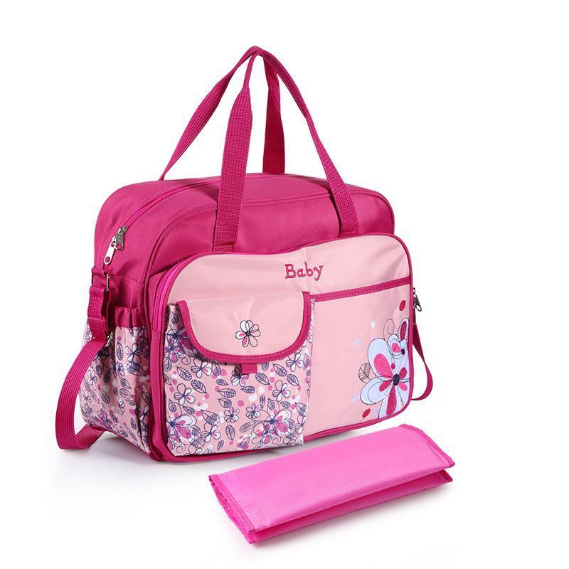 다기능 대용량 방수 어깨 엄마 가방 어머니와 아기 만화 인쇄 휴대용 외형 기저귀 가방