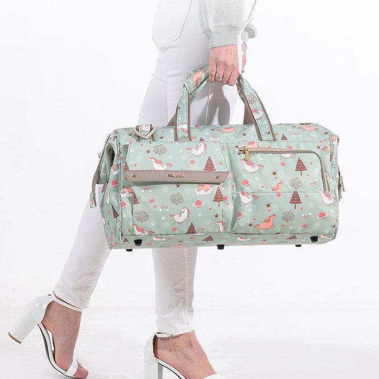 Sacos de fralda Sunen Bag 34L grande capacidade bebê bebê impermeável moda mãe ombro maternidade viagens 3in1