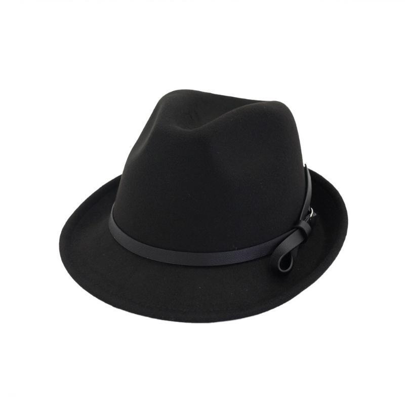 Осенняя элегантная шерсть Fedora Jazz Hat Men Chapeu Panama Sombrero Женщины Feat Haps Man Bowler Vintage Retro Cap Unisex HF130 Широкий край