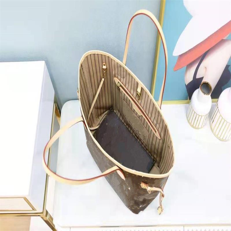 Hot Totes Frauen Klassische Lady Capicity Brieftaschen Verkaufen! Handtaschen Große Eimer Luxurys Designer Full Vintage Hardware Brief Druck Tote Wukn