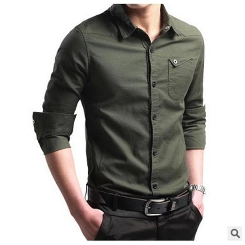 Ropa de caballero 2021 Camisa de negocios delgada para hombre Casual Large