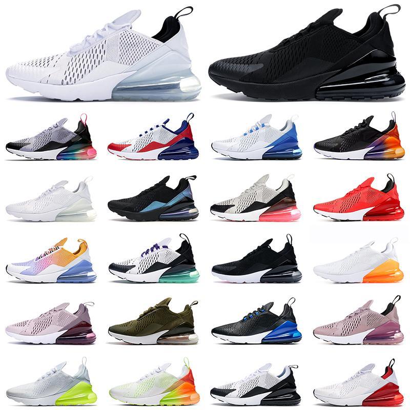 air max 270 حذاء ركض رجالي 270s يتفاعل Eng ثلاثي أسود أبيض Be True Worldwide BARELY ROSE حذاء رياضي رجالي للسيدات