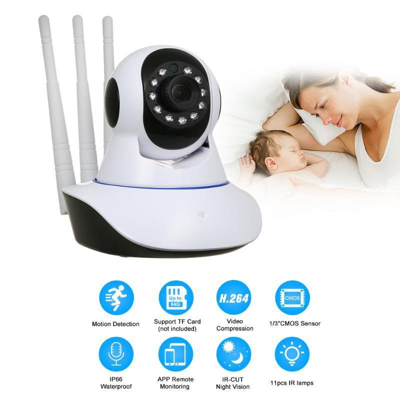 Cámaras 1080p WiFi Inicio Seguridad IP Cámara IP Aplicación Red remota Inalámbrica CCTV Vigilancia 2M IR Night Vision Baby Monitor