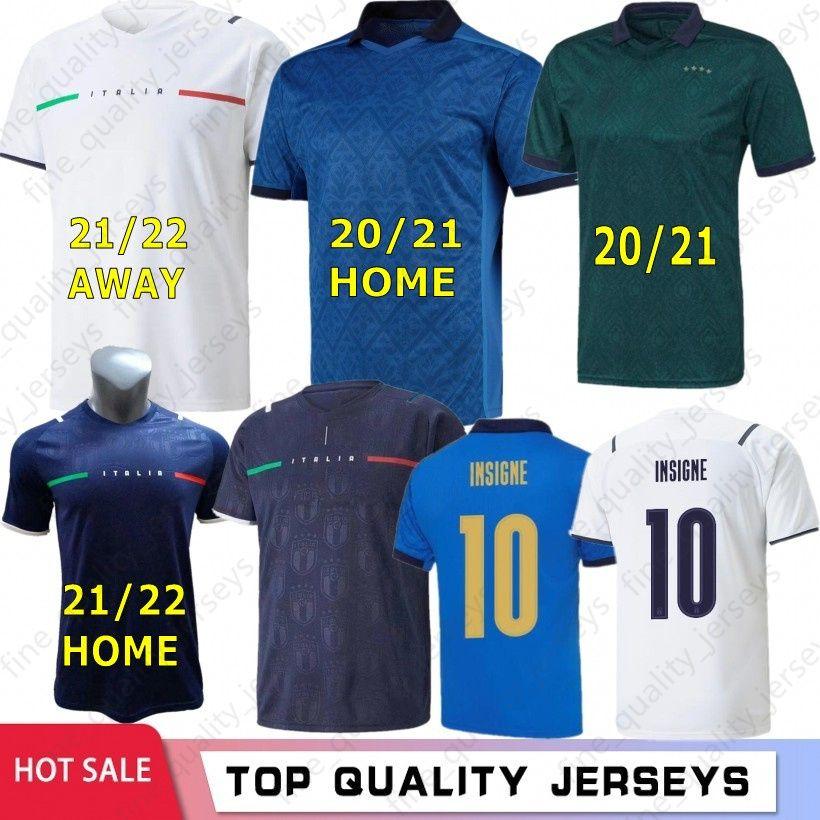 2021 2022 Italie Soccer Jerseys Italia Barella Sensi Insigne 20 21 22 Européenne Euro Coupe Chiellini Bernardeschi Chemises de football Hommes + Kids Kit Uniformes Accueil Jersey