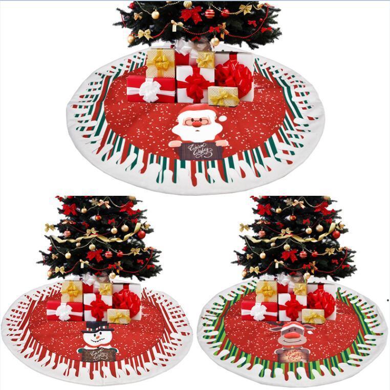 Jupes d'arbres de Noël Arbres Décoration Mat Noël Noeur de neige Rennes Ornement Home Festival de vacances Décorations de fête CCB9469