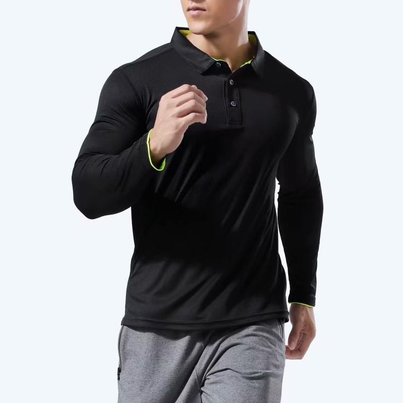Donne Mens Sport Sport Camicia per Badminton Camicia a manica lunga traspirante Camicia da tennis Camicie da tennis Gym Fitness Top maschile Allenamento Polo T-shirt