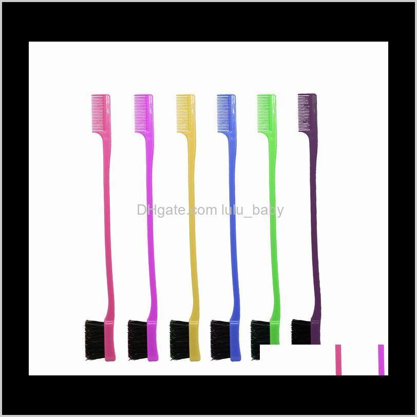Beauty Double Sided Edge Control Comb Styling Tool Toothbrush Style Eyebrow 500Pcs Z5Kzw Brushes Duev1