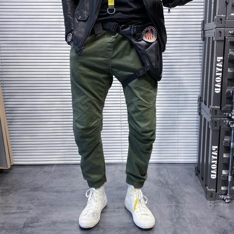 헐렁한 패션 캐주얼 바지 남자 코튼 스트리트웨어 누적 스웨트 팬츠 빈티지 Vetement Homme Mens 의류 DH50XX 남자