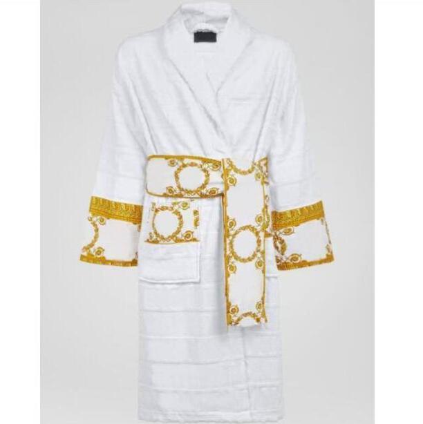 Designer de marca Sleepwear vestidos de banho unisex 100% algodão noite roupão de boa qualidade Robe robe robe respirável elegante mulheres roupas
