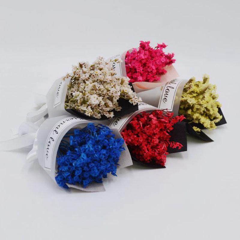 Mini fleur séchée bouquet décor de mariage gypsophila cadeau bricolage décoration de la Saint-Valentin accessoires artificiels de la Saint-Valentin Couronnes de fleurs décoratives