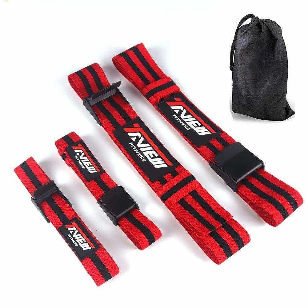 Bandes d'occlusion de fitness de gymnastique pour le bodybuilding Bras d'haltérophilie jambe de sang de flux sanguin Formation d'entraînement lourd musculaire Croissance musculaire 201216