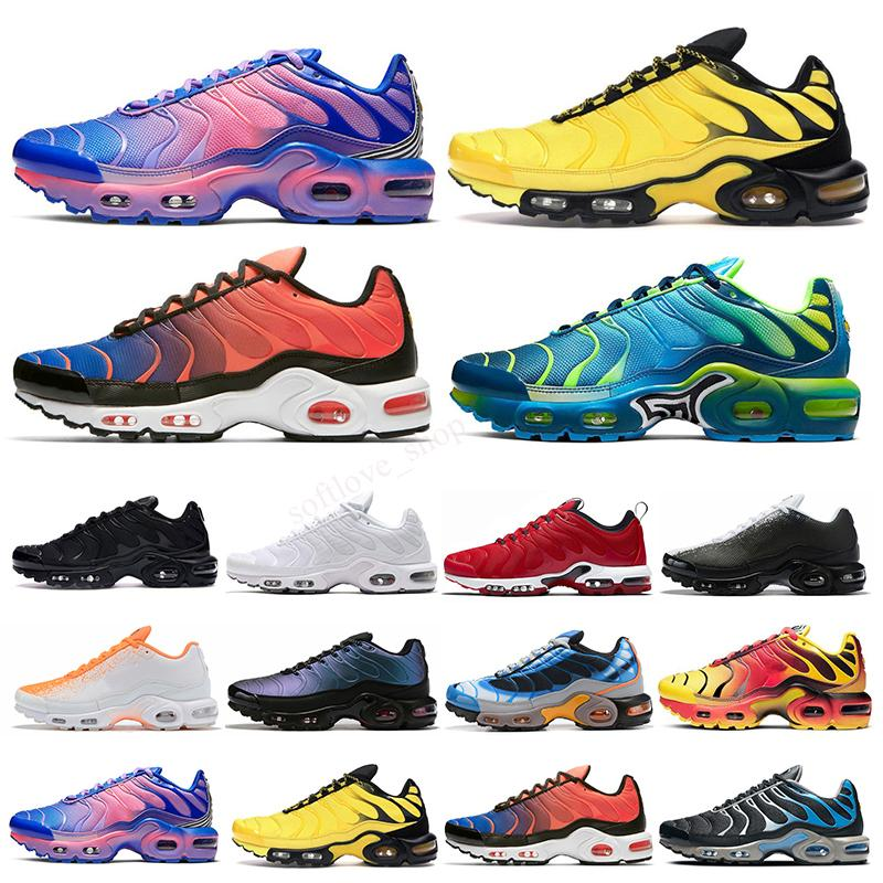 Max Vapormax Plus TN Masculino TN Plus Correndo Sapatos Mens SE Ultra Listras Branco Blue Designer Sneakers Retro TNS Classic Trainers ao ar livre Tamanho 40-46