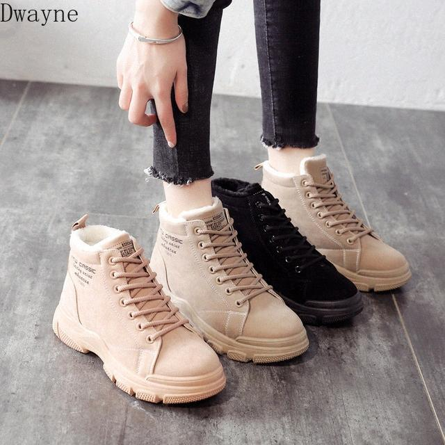 2020 Winter New Wild Snow Boots Short Boots Plus Velvet Thick Warm High Top Womens Pumps Shoes Shoe Boots From , $21.35  DHgate.Com 4772#