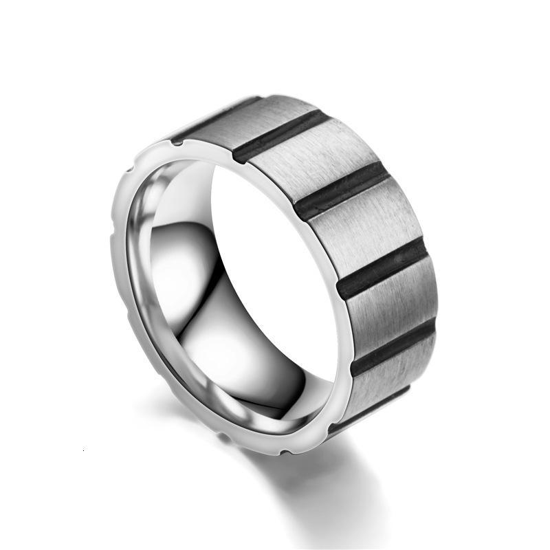 유행 티타늄 강철 반지 남성 S, 혁신적인 패션 스테인리스 모자