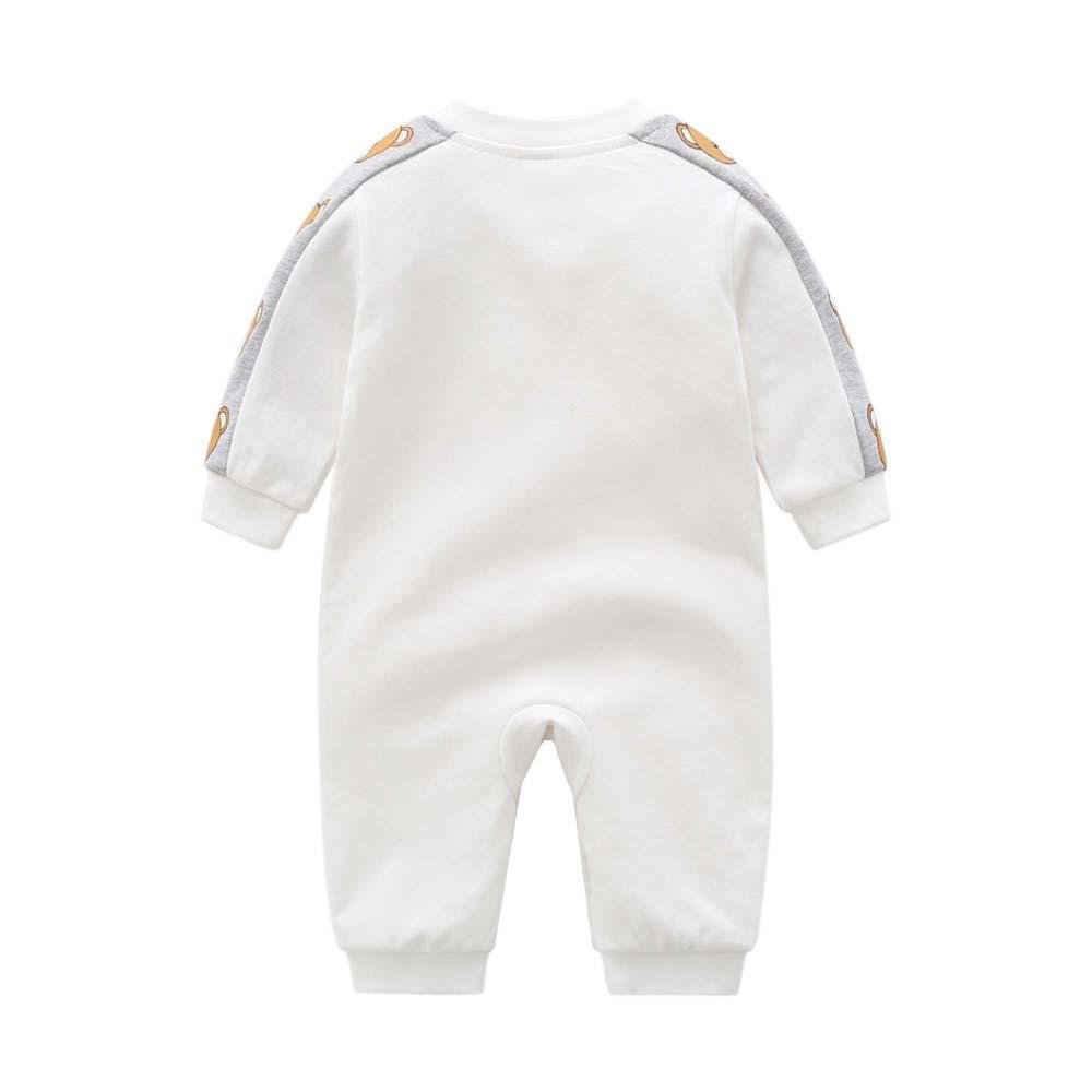 高品質の赤ん坊のロンパース幼児新生児の漫画のクマのコットンロンパースonesiesジャンプスーツジャンプスーツ子供デザイナー服子供ブティック服