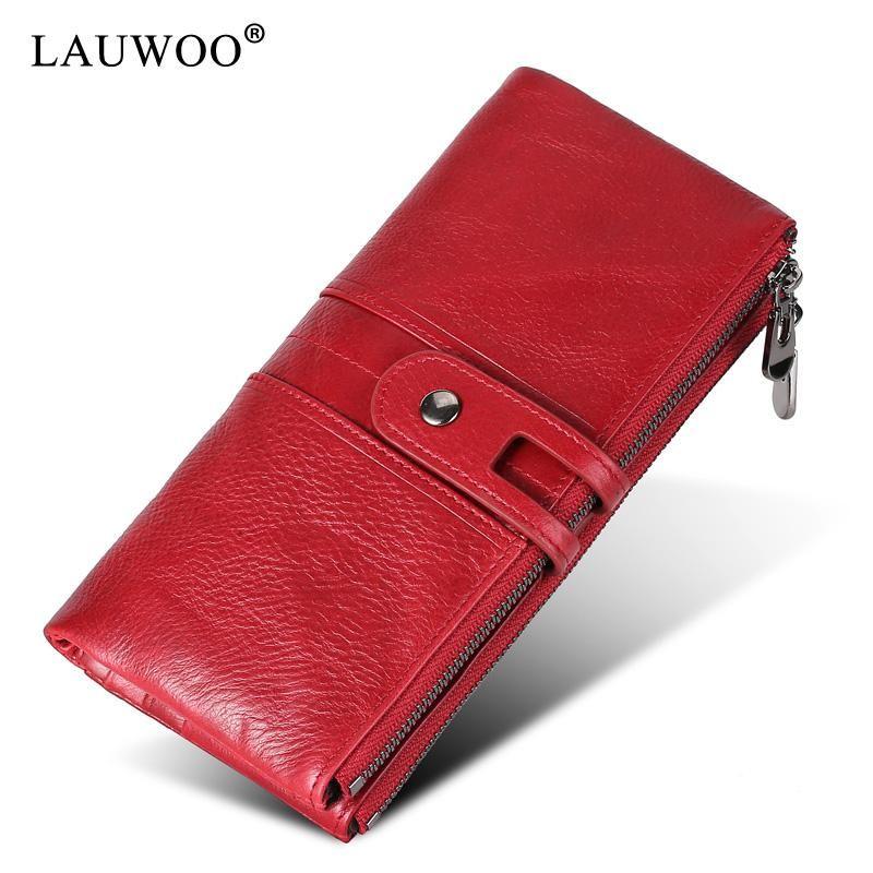 Grande Capacidade Celular Pocket Pocket Hasp Cartão Handmade Vintage Marca 100% Top Genuine Cowhide Leather Wallet Carteiras