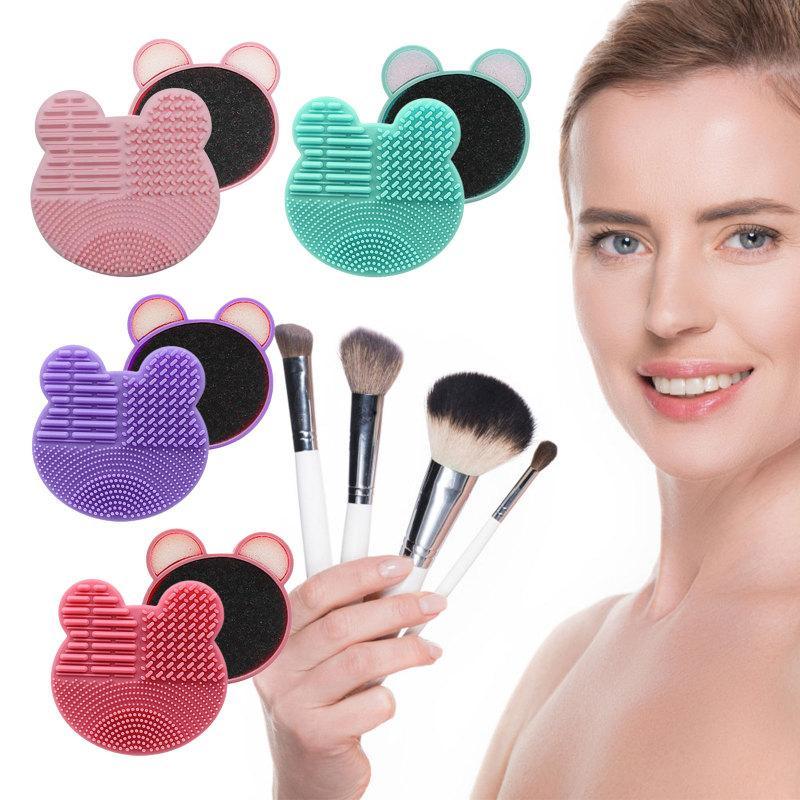 Silicone maquiagem pincel limpo almofada de lavagem rápida caixa de lavagem esponja e esteira escovas cosméticas limpeza limpa ferramenta de limpeza maquiagem ferramenta em estoque