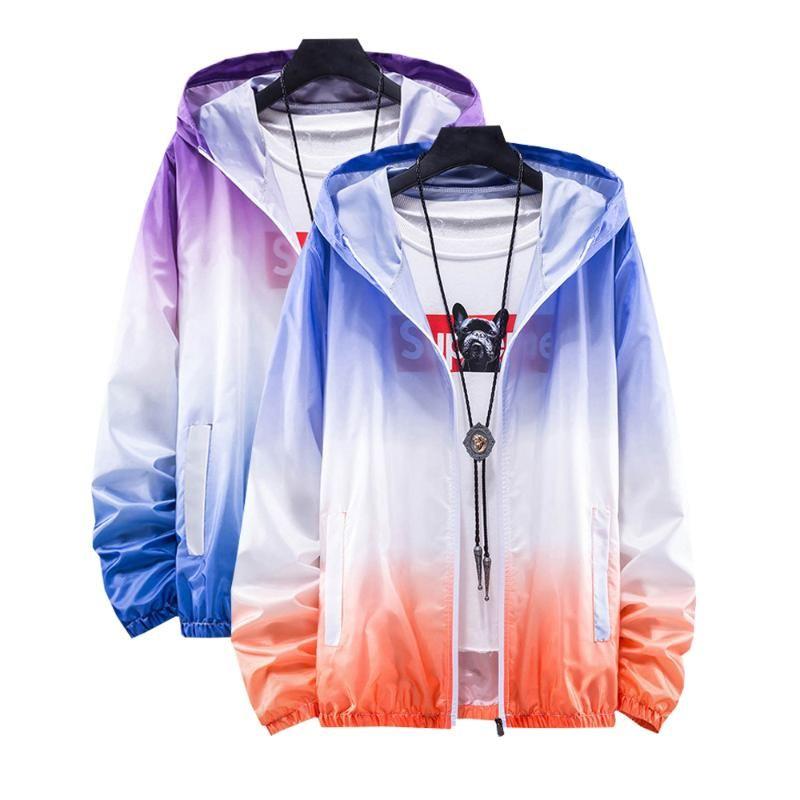 Men's Jackets S-7XL Plus Size Brand Men Women Ultra-thin Ultra-light Male Jacket Anti-UV Quick Dry Skin Coat Sports Windbreaker Bomber