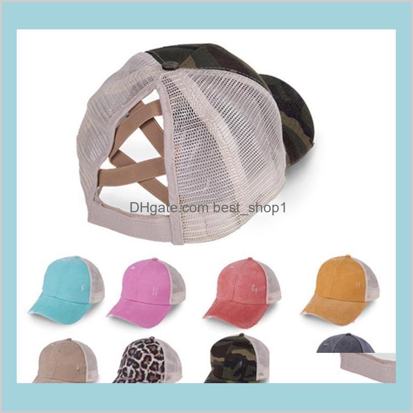 Buns bagunçados rabo de cavalo chapéus meninas bonés de beisebol lavados algodão unisex visor tampão chapéu snapbacks ao ar livre com rótulo cc b 3vgtt