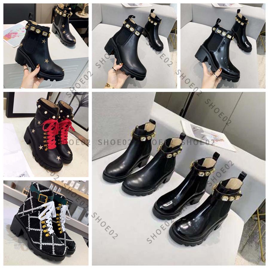 En Çok Satan Kadın Diz Çizmeler Tasarımcı Yüksek Topuklu Ayak Bileği Boot Gerçek Deri Ayakkabı Moda Ayakkabı Kış Kutusu Ile AB: 35-41 by Shoe02 01