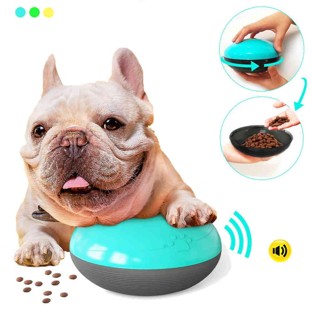 Pet Dog Squeaky Feeding Toy Soft Cute Pet Ball Toy Squeak Interactive Dog Chew Toy Slow Feed Ball for Small Medium Large Dog