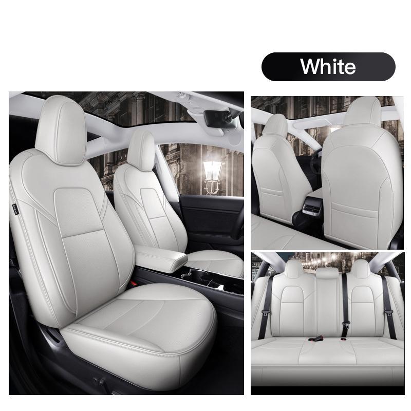 Tesla için araba iç aksesuarlar koltuk kapağı Model x 360 derece tam kaplı yüksek kaliteli deri yastık uygun 6 kişilik (sadece modelx)