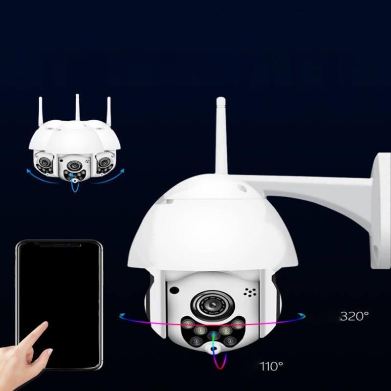 Cámara de seguridad inalámbrica inalámbrica a prueba de agua a prueba de agua Vigilancia de la red de bola de rotación de 320 grados de 320 / 1080p Cámaras IP